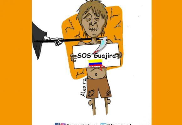 Caricatura: El triunfo de la muerte en La Guajira