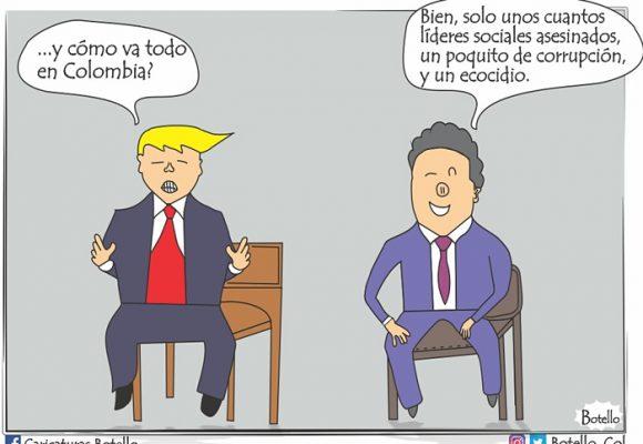 Caricatura: President Márquez, ¿cómo va Colombia?