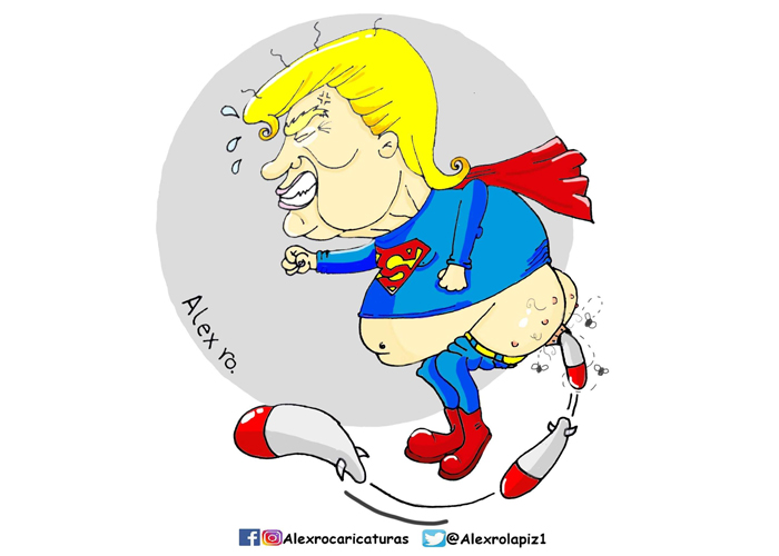 Caricatura: Trump, el