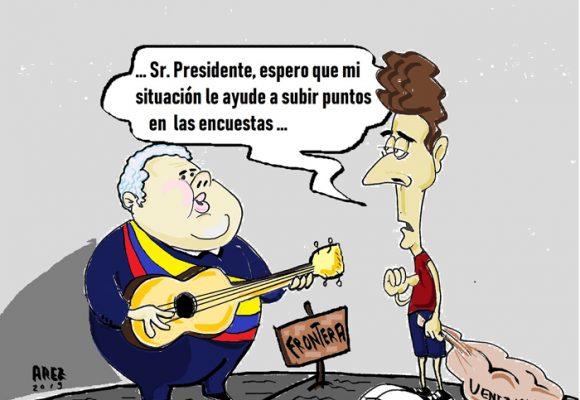Caricatura: Venezuela, una ayuda humanitaria para Duque