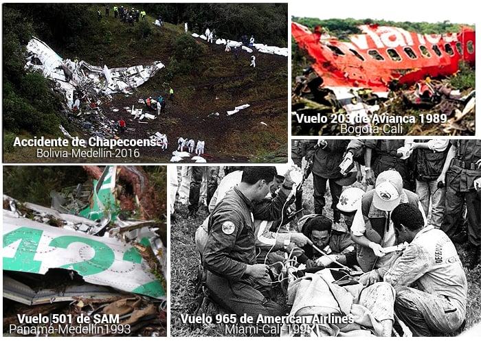 Tragedias aéreas en Colombia que no se olvidan