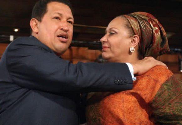 Homenaje de Piedad Córdoba a Hugo Chávez