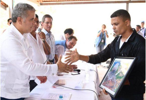 Las incisivas palabras con que recibieron a Duque en el ETCR Simón Trinidad