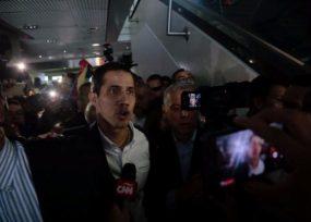 Guaidó logró entrar a Venezuela