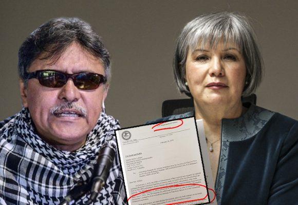 Estados Unidos dice No a las pruebas contra Santrich
