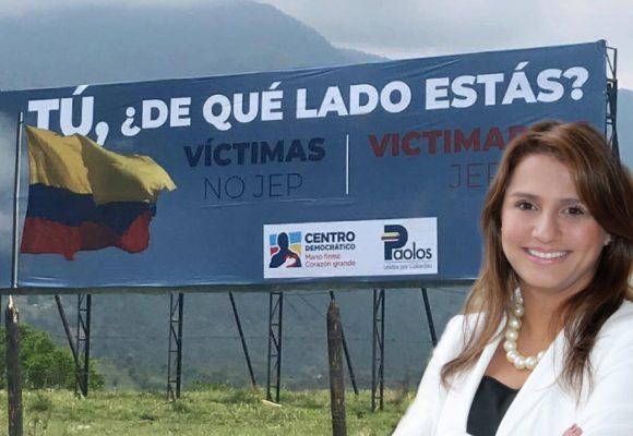 Valla uribista contra la JEP tiene nombre propio: Paola Holguín
