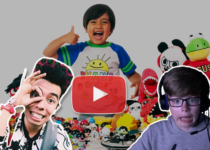Cinco niños famosos como youtubers