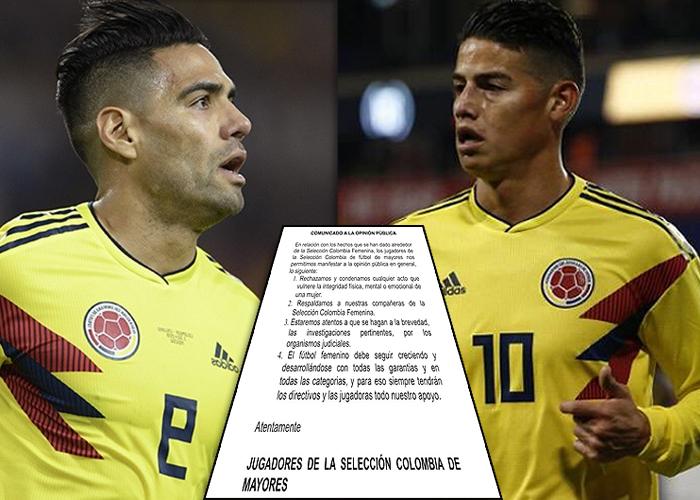 ¡Por fin! Falcao y James respaldan a las jugadoras de la Selección que denunciaron acosos