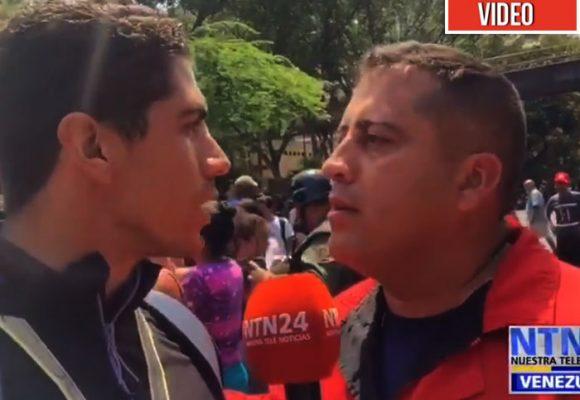 [VIDEO] Así intimidan los milicianos de Maduro a los periodistas en Venezuela