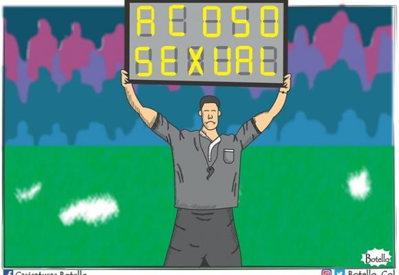 Caricatura: Continúa el acoso sexual en el mundo del fútbol
