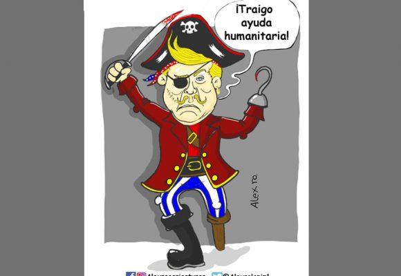 Caricatura: Trump, el capitán bondadoso