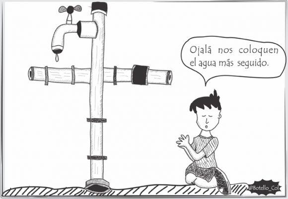 Caricatura: ¿Para cuándo un suministro decente de agua en Aguachica?