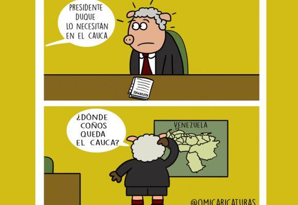 Caricatura: Presidente Duque, ¿y el Cauca?