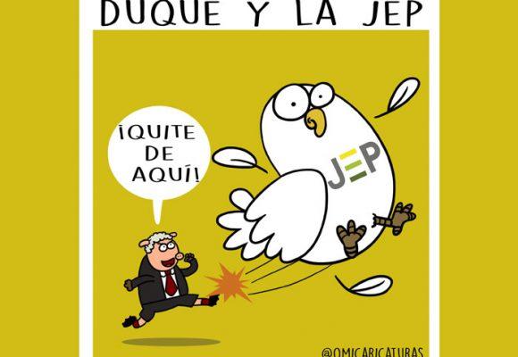Caricatura: La patada de Duque a la JEP