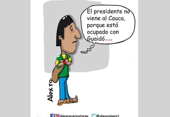 Caricatura: Y bueno, ¿Duque cuándo se dignará a ir al Cauca?