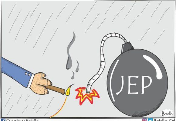 Caricatura: La JEP, una bomba de tiempo
