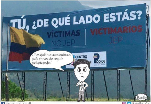 Caricatura: ¡No más odio!