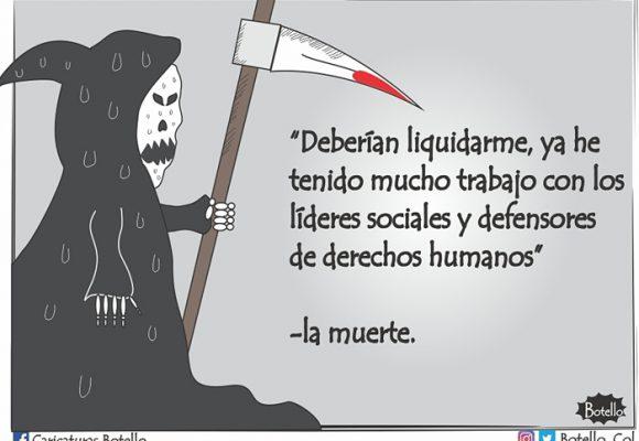 Caricatura: ¡No cesa el asesinato de líderes sociales!