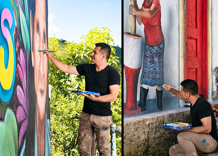 Los murales de Joselo que alegran a San Carlos, Antioquia