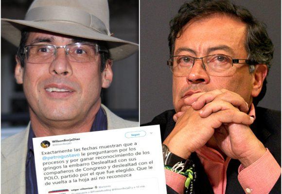 Wilson Borja: por ganar reconocimiento de los gringos, Petro fue desleal con el Polo