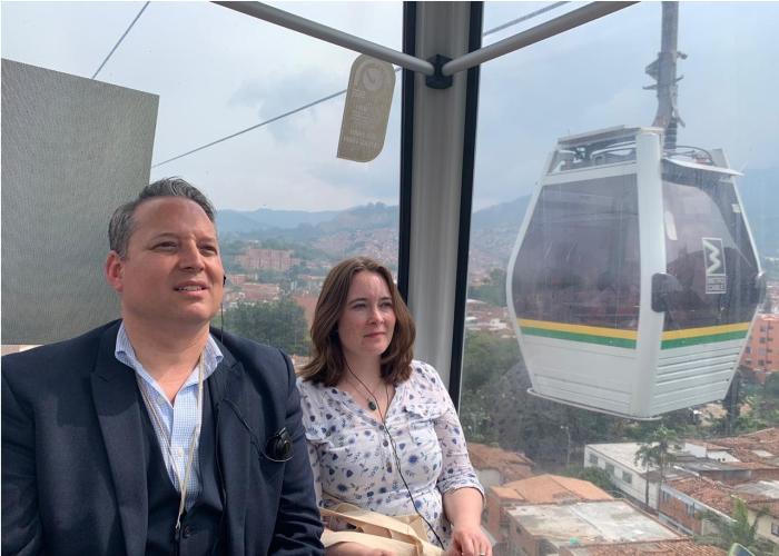 Transporte público de Medellín, un referente para la academia escocesa