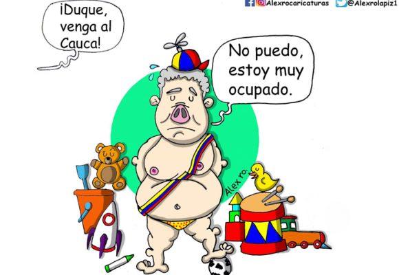 Caricatura: Indiferencia presidencial