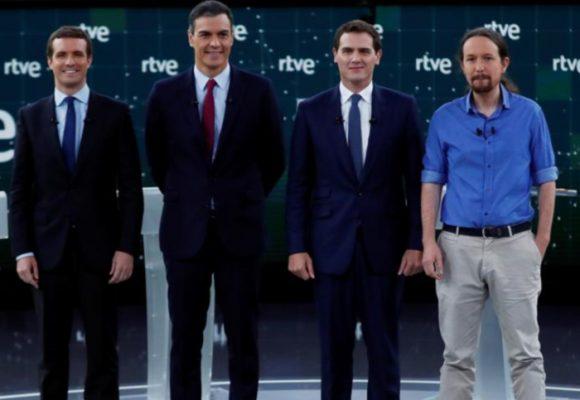 Los 4 grandes que se la juegan en las elecciones del domingo en España