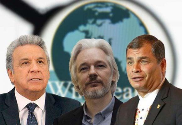 Assange en el centro de la pelea de Lenin Moreno Vs Rafael Correa