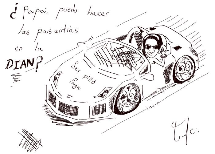 Caricatura: Pasantías en la Dian