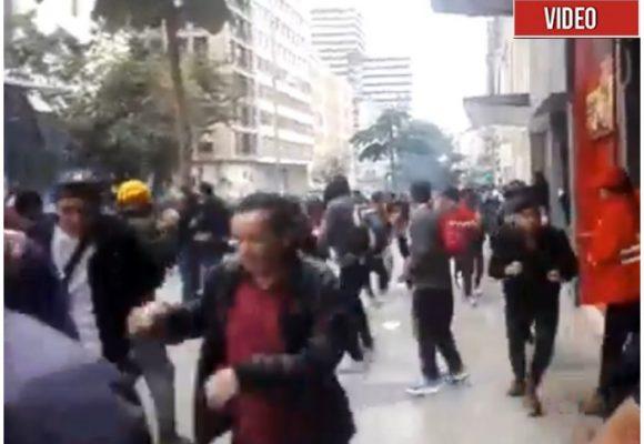 El ESMAD reprime en la Plaza de Bolívar el Paro Nacional [VIDEO]