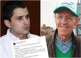 Elogios de Tomás Uribe a Navarro Wolf alborotan el avispero