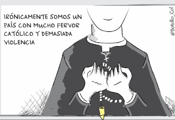 Caricatura: Entre el fervor y la violencia