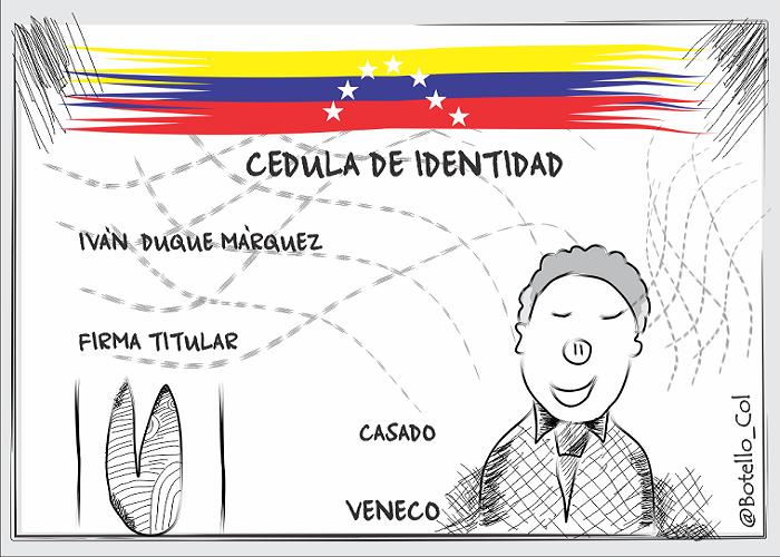 Caricatura: La cédula del presidente