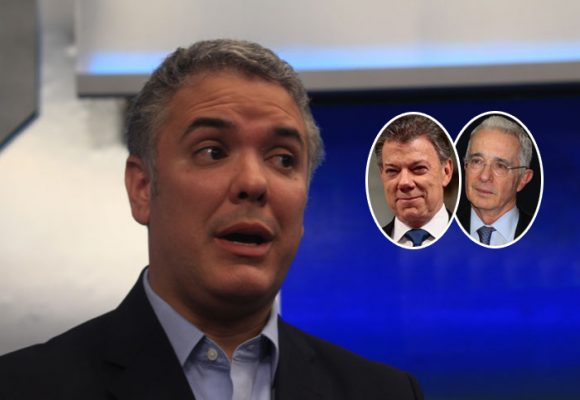 Al menos Duque es frentero, no como Santos, Uribe y los demás expresidentes