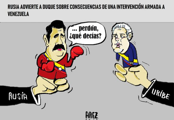 Caricatura: La advertencia rusa