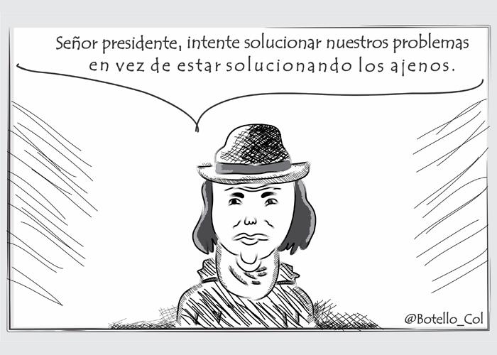 Caricatura: Presidente, que si por favor le pone cuidado al Cauca