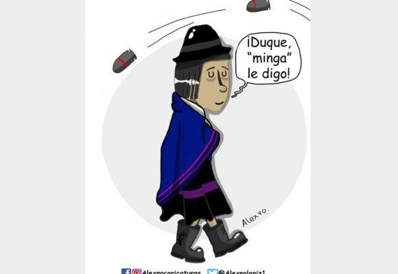 Caricatura: La dura resistencia indígena