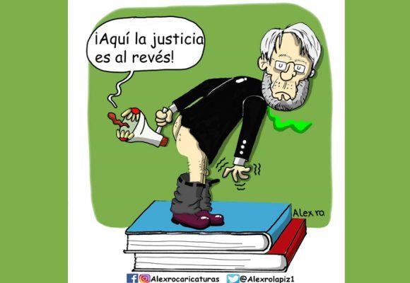 Caricatura: Colombia y su justicia al revés
