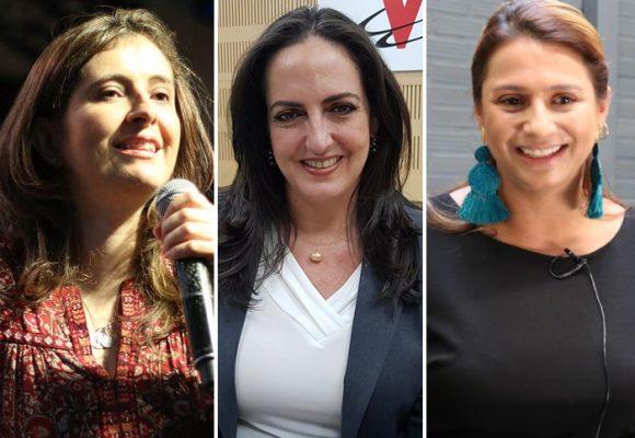 Paloma, María Fernanda y Paola, las fieles escuderas de Uribe