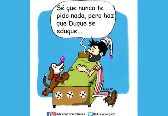 Caricatura: ¡Diosito, te pido por favor que Duque se eduque!