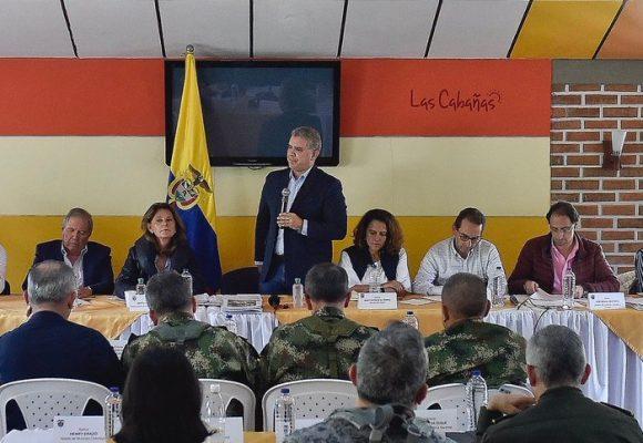 La plana mayor que acompañó al presidente a dar confianza en Popayán y Pasto