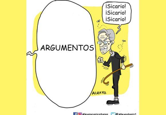 Caricatura: El declive de Uribe