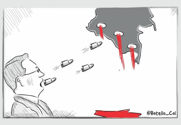 Caricatura: El señor violento