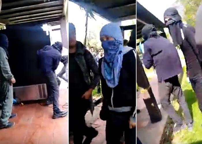 VIDEOS: El ataque de los capuchos a la Universidad Nacional