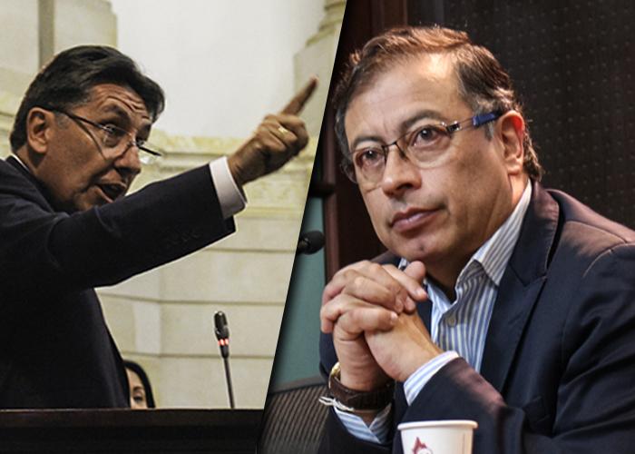 """""""Ojalá Duque y la Corte no nos pongan a otro corrupto"""": Petro contra el Fiscal"""