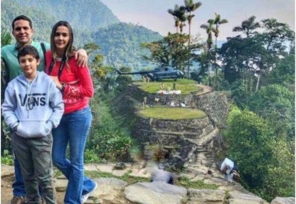 El secretario de seguridad de Santa Marta puso al ejército a pasearlo en helicóptero