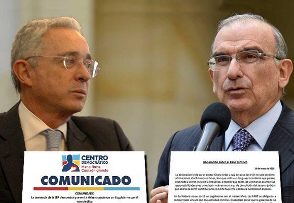 Agresivo intercambio de cartas entre Uribe y De la Calle
