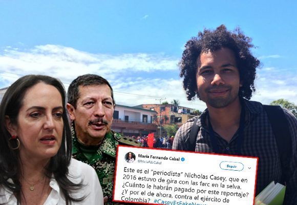 El trino de María Fernanda Cabal que forzó a salir del país al periodista del New York Times