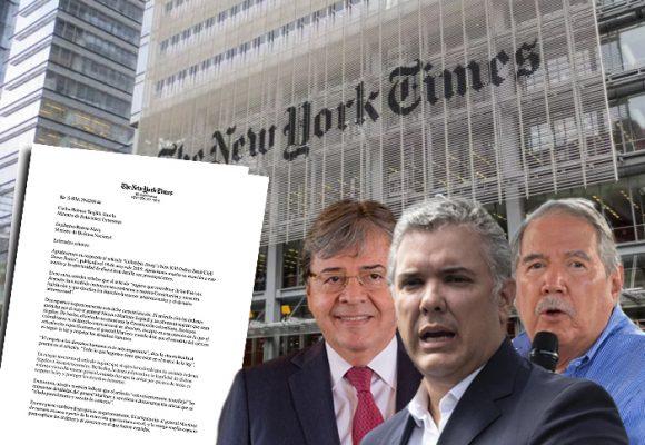 Lecciones de periodismo del New York Times al gobierno Duque