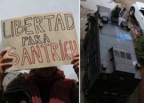 [FOTOS] En esta tanqueta llegó Santrich al juzgado. Se oyó, pero no se vio